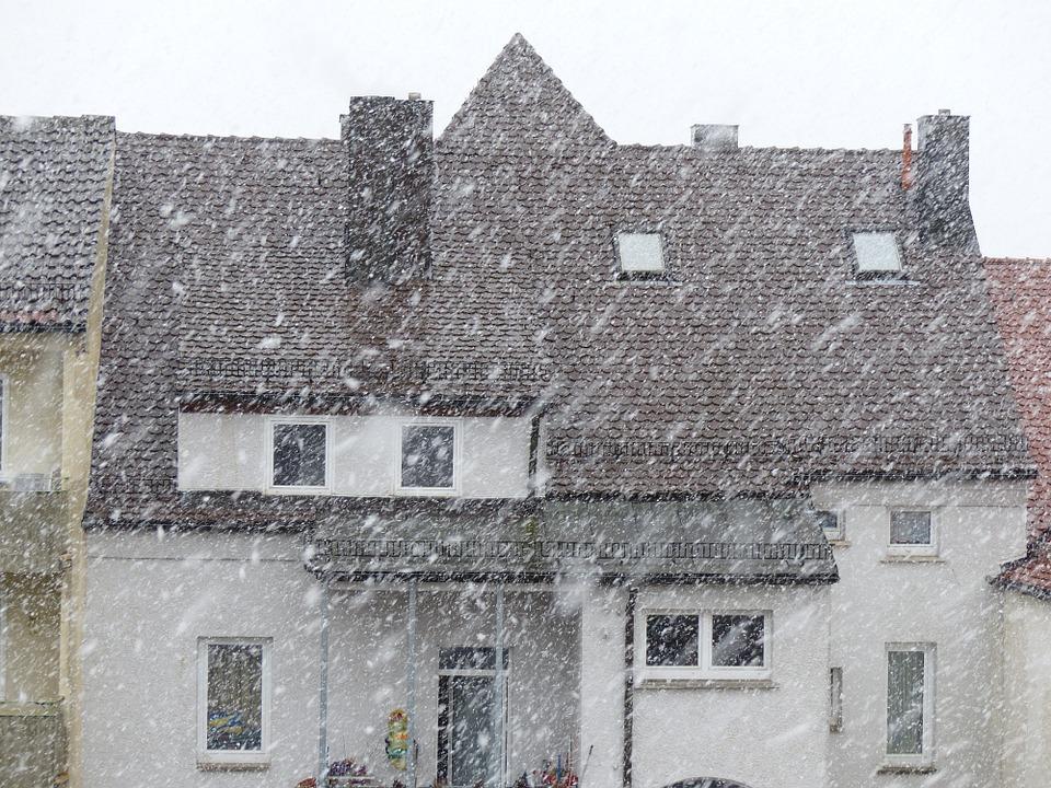 Társasház hóviharban